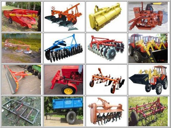 Виды навесного оборудования на трактор